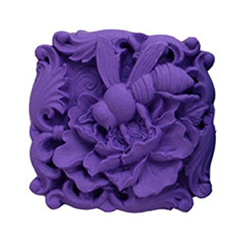 Longzang Bee Silicone Mold Craft Art Silicone Soap Mold Craft Molds DIY Handmade Soap Molds (S001)