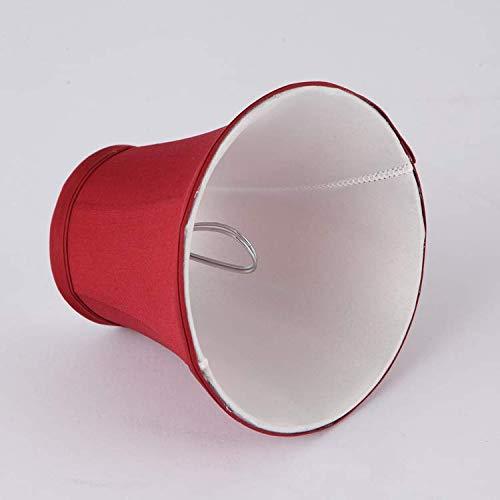 Candela rossa tonalit/à Bell clip on luce tonalit/à lampadario paralume per lampadario set di 6