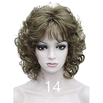 Amazon.com : Strong Medium Short Curly Wigs