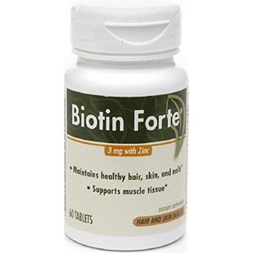 Phytopharmica Biotin Forte 3mg with Zinc Tablets - 60 Ea, 3