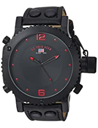 U.S. Polo Assn. Classic Men's US4023 Black Analog Leather Strap Watch
