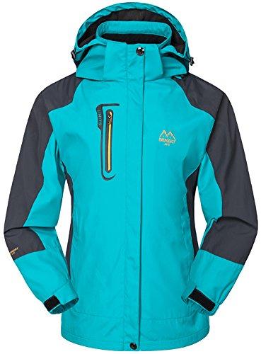 Cappuccio Pesca Jacket Donna Giacche Softshell Mountain Working Sportwear Sci Windbreaker Impermeabile Azzurro Campeggio Con Outdoor Caccia Mochoose Coat Rain p86Cq6