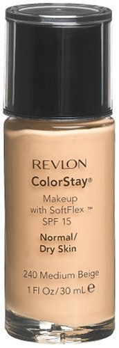 - Revlon ColorStay Makeup with SoftFlex, Normal/Dry Skin, Medium Beige 240, 1 Ounce (Pack of 2)