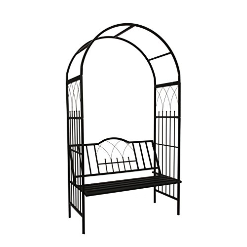 1. GO Steel Garden Arch with Seat for 2 People, 6'9