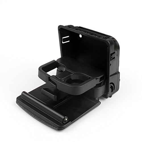 Gti Cup Car - Areyourshop Rear Armrest Central Console Cup Holder For VW Jetta Gti MK5 Golf MK6 Black