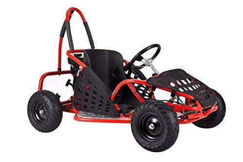 4-Stroke Gas 79CC Kids Go-Kart (EPA Registered, NO CA sales), Red