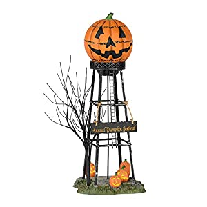 Department 56 Halloween Accessories for Village Collections Pumpkin Water Tower Figurine, 10.24 Inch, Multicolor