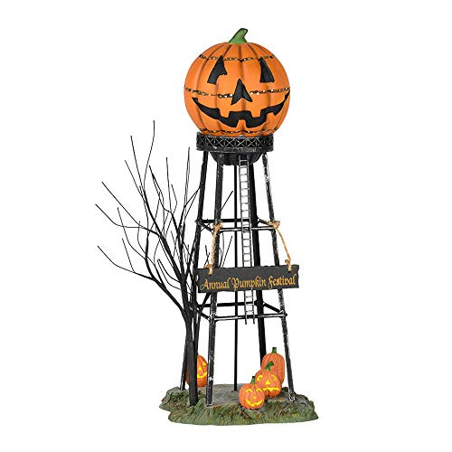 Department 56 56.53223 Halloween Water Tower, Orange -