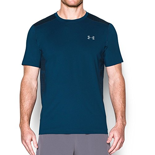 Under Armour Men's Raid Short Sleeve T-Shirt, Blackout Navy (997)/Steel, X-Large