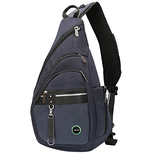 JOCHUI Sling Backpack, Sling Bag Pack Crossbody Bags Shoulder Backpack Laptops Travel Bag for Men Women Teens Navy