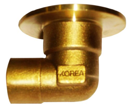 Plumber's Choice 92359 Cast Brass Sweat Fitting, Flanged C x FIP 90-Degree Ell, 1/2-Inch