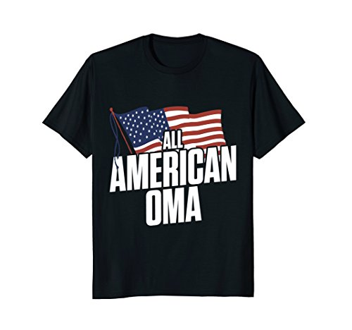 All American Oma USA Flag Matching Family T-Shirt v1 (Red V1 Flag)