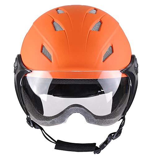 Orange XL Ski Snowboard Skateboard Snow Sports Helmet Protective ASTM Certified for Kids w/Anti-Scratch Goggle