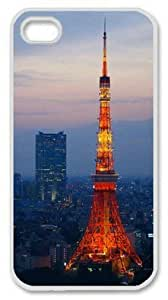 Iphone 4 4s PC Hard Shell Case Tokyo Tower 5 White Skin by Sallylotus