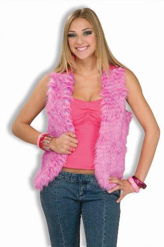 Forum Novelties Women's 60's Mod Revolution Groovy Pink Vest Costume Accessory, Multi, Standard (Adult Hippie Costume Vest)