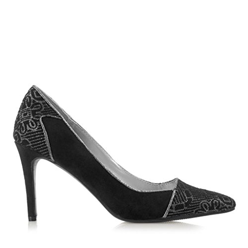 Ruby Shoo Women's Sally Pointed Pumps Court Shoes & Free Belle Divino Sole Protector Black UOK3yy4UW