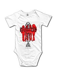 Baby Onesie Led Zeppelin Visual Documentary Short Sleeve Toddler Coveralls