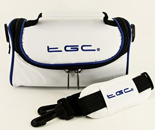 TGC ® - Bolso al hombro para mujer rojo piel sintética Cool White With Dreamy Blue Trims