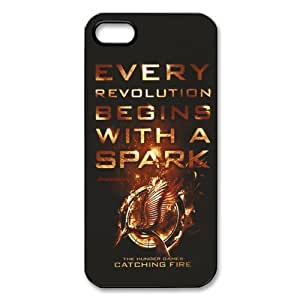 The Hunger Games iPhone 5 5S Hard Case Cover - Every Revolution Beging With a Spark