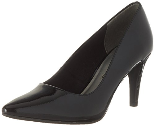 Donna Tamaris Scarpe Nero 22447 Black con Patent Tacco qrrwBFgI