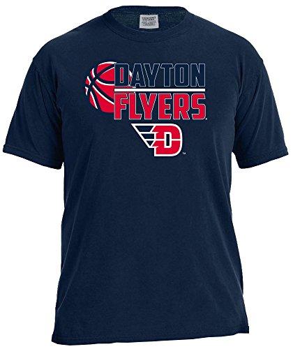 Image One NCAA Basketball Logo Short Sleeve Comfort Color Tee, Large,TrueNavy