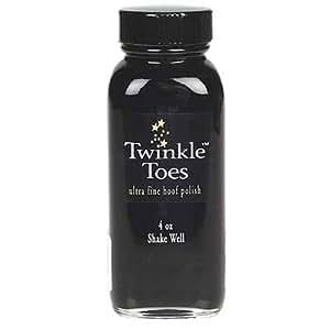 Twinkle Glitter Products Toes Satin Hoof Polish, Black