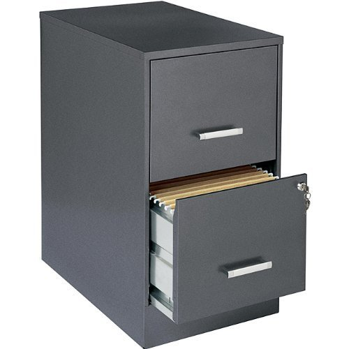 Office Designs 16871 Metallic Charcoal-colored 2-drawer Steel File Cabinet by Office Designs