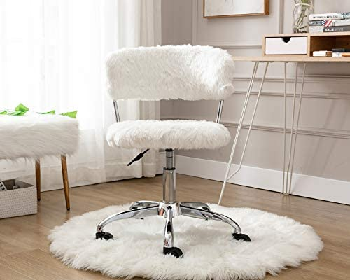 Chairus Home Office Chair Faux Fur Desk Chair