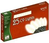 Holiday Wonderland2924W-88 25 Count White Ceramic C9 Christmas Light Set - Quantity 10