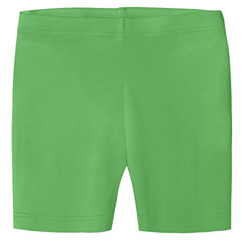 City Threads Little Girls Organic Cotton Underwear Bike Shorts For Sensitive Skin or SPD Sensory Friendly, Elf, 3T