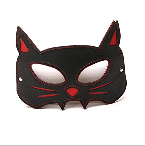 S-M Leather Blindfold Variety of Pet Eye Mask Halloween Fē`t-i`s`h Stage Props for Prom Role Play
