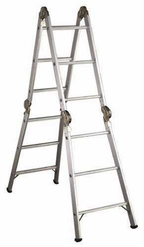Werner 6-Foot 250-Pound Duty Rating Aluminum Multi-Master Articulated Ladder #M1-6-12 by Werner
