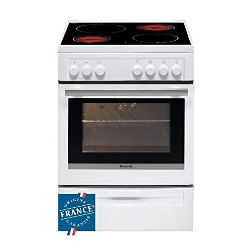 Brandt BCV6610W - Cocina con vitrocerámica, 4 fuegos, 9,43 ...
