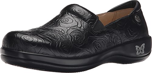 Alegria Womens Keli Professional Night Rosette Clog/Mule 39 (US Womens 9-9.5) Regular by Alegria
