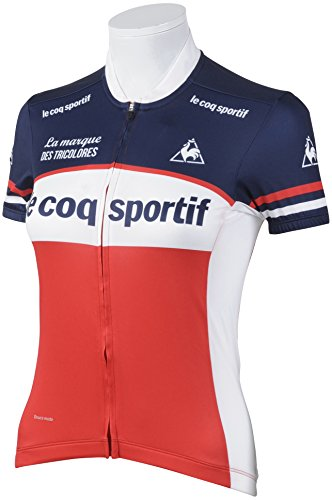 前方へ気をつけてまた明日ね(ルコックスポルティフ) le coq sportif サイクリング 半袖シャツ QC-745161 [レディース]
