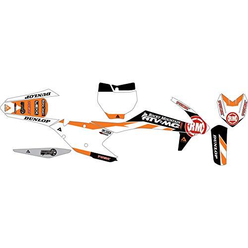 Team Race Graphic - Attack Graphics Custom Race Team Complete Bike Graphics Kit Orange - Fits: KTM 450 XC-F 2016-2019