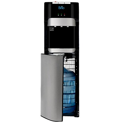 Brio Essential Series Bottom Load Hot, Cold & Room Water Cooler Dispenser - 3 Temperature Modes for Home or Office - UL / Energy Star Approved. by Brio