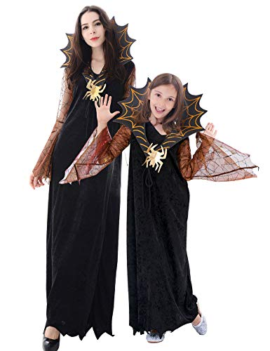 Spider Queen Costumes For Kids - IKALI Girls Vampire Spider Witch Costume,