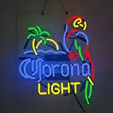 Corona Light Palm Tree Parrot Beer Bar Pub Store Party Room Wall Windows Display Neon Signs 19x15