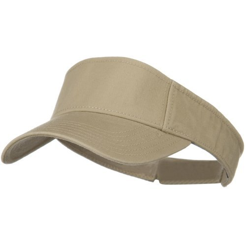 Superior Garment Washed Cotton Twill Sun Visor - Khaki OSFM