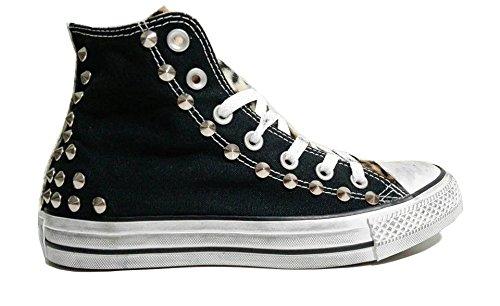 Converse all star Cavallino Borchie borchiate nero black personalizzate ( prodotto artigianale )