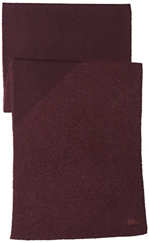 Lacoste Women's Colorblock Scarf, Vendange/Vendange, One Size by Lacoste