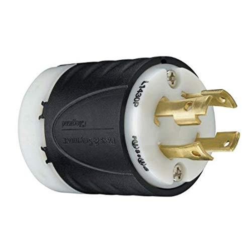 - Legrand - Pass & Seymour L1430PCCV3 Industrial-Strength NEMA L14-30P Turnlok Locking Plug | Generator Plug 30A, 125/250 Volt | IP20 Suitability, 4-Wire