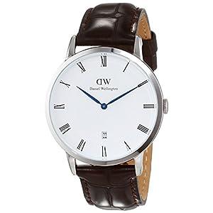 Daniel Wellington DW00100089 - Reloj de cuarzo analógico, con correa de piel de acero para hombre, color marrón 3