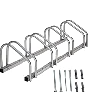 Sotech - Steel Bike Stand for 4 Bikes, Silver Floor Bike Rack for Garage,Family Bike Rack, Floor and Wall Mount, 99 x 32 x 26 cm, Indoor and Outdoor Bicycle Holder