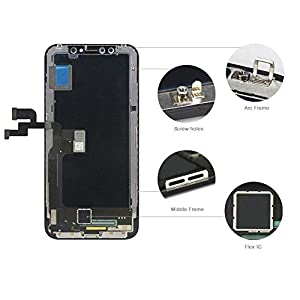 """for iPhone X 5.8"""" OLED LCD Screen Replacement Display Touch Digitizer Assembly + Repair Tools, Compatible with Model A1865, A1901, A1902"""