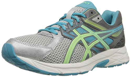 ASICS Women's Gel-contend 3 Running Shoe, Silver/Pistachio/Teal, 5 M US
