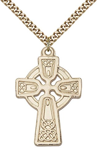 14kt Gold Filled Celtic Cross Pendant with 24