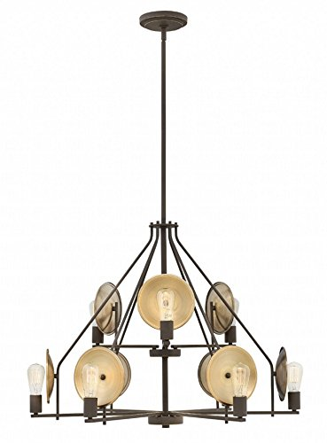 Hinkley 4538OZ Boyer Chandelier, 9-Light 900 Total Watts, Oil Rubbed (Hinkley Contemporary Lighting)