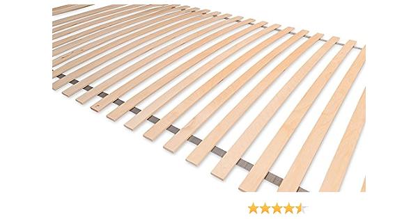 Matratzenheld - Rollo de listones para somier Remus de 140 x 200 cm, 28 listones de madera, adecuado para todo tipo de colchones